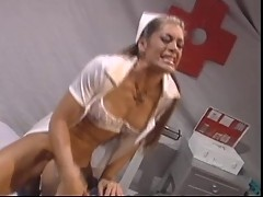Nurse Aria getting fucked rough and squirts